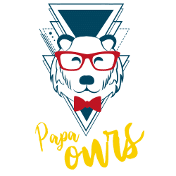 Illustration papa ours